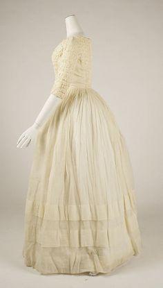 Dress (image 2) | American | 1841-1844 | cotton | Metropolitan Museum of Art | Accession #:  C.I.45.68.28