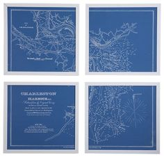 Framed Nautical Charts traditional artwork, $389, gulp