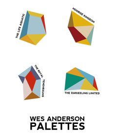 Wes Anderson color palettes with Ilustrator Live Paint Bucket