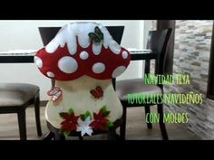 Cubresilla Hongo Navideño. 2019 - YouTube Diy Spring Wreath, Diy Wreath, Teaching Fractions, Cool Bugs, Merry Christmas, Christmas Ornaments, Finger Joint, Children Images, Cute Images