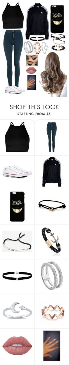 """Random Outfit #58"" by x1dlover4everx ❤ liked on Polyvore featuring Boohoo, Topshop, Converse, adidas Originals, Cartier, Amanda Rose Collection, Monica Vinader and Lime Crime"