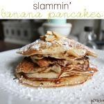 Slammin' Banana Pancakes {recipe}