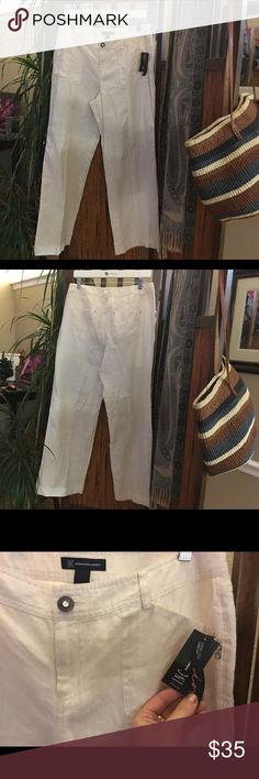 INC International Concepts linen pant Brand new with tags gorgeous linen pants by I.N.C.!!!  Size is 10.  Style is wide leg curvy fit.  Awesome beach pants or work pants!!!  Bought at Macy's. INC International Concepts Pants Trousers