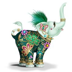 Margaret Le Van Lucky In Love Hand-Painted Elephant Figurine Elephant Parade, Elephant Love, Elephant Art, Elephant Tattoos, Irish Symbols, Love Symbols, Elefante Hindu, Elephant Home Decor, Doll Tattoo