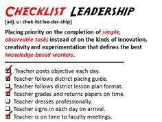 Slide_ChecklistLeadership   by William M Ferriter
