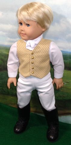 1800's Boy's Vest Outfit  fits 18 Inch Dolls by SugarloafDollClothes | Esty | I want this!