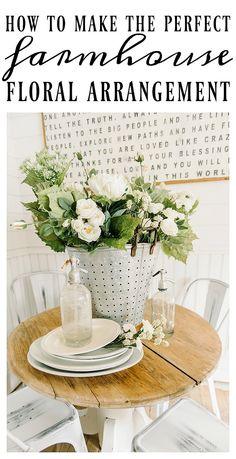 How To Make A Farmhouse Floral Arrangement |
