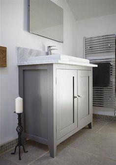 An inspirational image from Farrow and Ball Small Bathroom, Master Bathroom, Bathroom Ideas, Bathrooms, Diy Furniture Plans, Painted Furniture, Dream House Interior, Farrow Ball, Stone Tiles