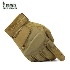 FreeSoldier Cycling Camping Anti-skid Full Finger Black Sandy Army Green Nylon Upgrade Gloves , Brown-S , Brown-S >>> Visit the image link more details.