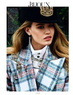 Georgia May Jagger by Lachlan Bailey for Vogue Paris August 2013 Tartan e gioielli Tweed, Burberry, Georgia May Jagger, Campaign Fashion, Beauty Shots, Vogue Magazine, Tartan Plaid, Vogue Paris, Love Fashion