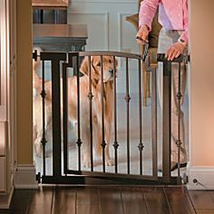 Another great looking solution to the ugly baby gate.