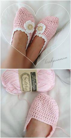 Crochet Slippers Free Pattern Ideas You'll Love : Crochet Slippers Free Patterns That Are Fun To Make Easy Crochet Slippers, Crochet Slipper Boots, Knit Slippers Free Pattern, Crochet Shoes, Crochet Clothes, Knit Crochet, Free Crochet Slipper Patterns, Knit Shoes, Crotchet