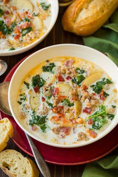 Anyone else living on soup lately? Winter comes and soup is all I care about. Okay not really just soup. Soup and cookies :). This Copycat Olive Garden Zuppa Toscana is a regular in my home so I figured I'd update the photos and share it with you again - because it has been 4 years since I first shared it (I