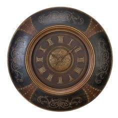 Deco 79 35017 Wood Leather Wall Clock with Royal Look Brown Wall Clocks, Clock Wall, Leather Wall, Tabletop Clocks, Royal Look, Buy Wood, New Wall, Joss And Main, Home Accents