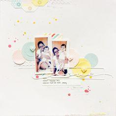 Jessy Christopher Tages am Rand, Farben, Layering mit Kreisen