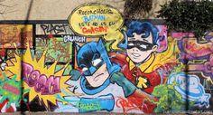 Batman & Robin street art