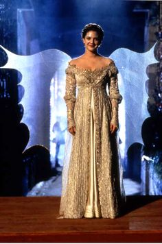 Ever After. (Cinderella)  Costume at the ball.  Most favorite movie ever.  I guess I'm just an optimist, a romantic and always root for the underdog.  :)