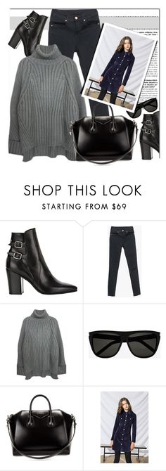 """""""Two Shades"""" by genuine-people ❤ liked on Polyvore featuring Yves Saint Laurent, Givenchy, black and gray"""