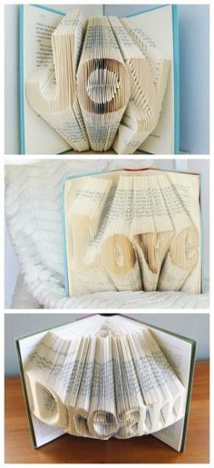 Folded Books Transform old books into words of inspiration by folding the pages to create this art.