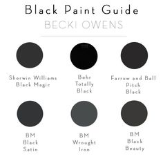 BECKI OWENS - Beautiful, eye-catching, black bathroom + painting instructions Source by Becki_owens Best Interior Paint, Interior Paint Colors, Paint Colors For Home, Paint Colours, Interior Plants, Black Bathroom Paint, Bathroom Paint Colors, Black Bathrooms, Small Bathroom