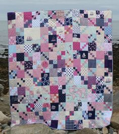 alidiza: Out to Sea Penny Patch quilt.