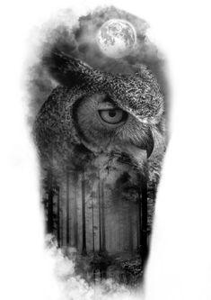 Buho Tattoo, Chicanas Tattoo, Tattoo Drawings, Owl Tree, Trash Polka, Black And Grey Tattoos, Photoshop, Art Sketches, Dragon Ball