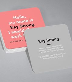Browse our selection of business cards design templates. Be inspired with our fully customizable design templates. MOO US. Square Business Cards, Business Card Design, Business Tips, Typography Logo, Graphic Design Typography, Logos, Card Designs, Designs To Draw, Flashcard