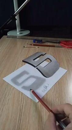 3d Pencil Art, 3d Pencil Drawings, 3d Art Drawing, Art Drawings Sketches Simple, Easy Drawings, Illusion Drawings, Diy Canvas Art, Step Guide, Crafts