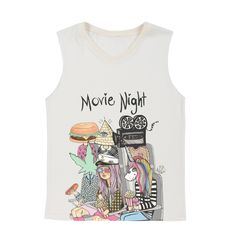 #ValfreWishList Movie Night Muscle Tee - Because Every Girl Loves Movies - And Shirts | Valfré