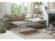 Sofa bed (open mech),Shown in Linen Cotton Sand