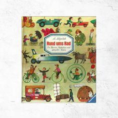 New in The Book Cottage: German Children's Book Vehicles With Wheels   Rund ums Rad Von Karren Kutschen und Schnellen Kisten   1970s Vintage Kids Language Book Red by TheBookCottage
