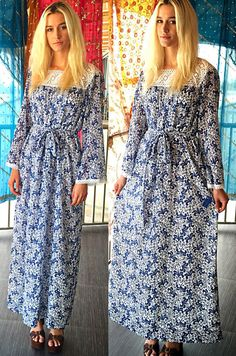 60s 70s DEADSTOCK Miss Lilly Pulitzer RARE Sumptuous Flowers Crochet Maxi Dress