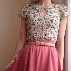 Oh, the blouse, the skirt, the blush