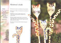 fakanálbábok2 - Eszter Toth - Picasa Webalbumok, wooden spoon puppet, cat