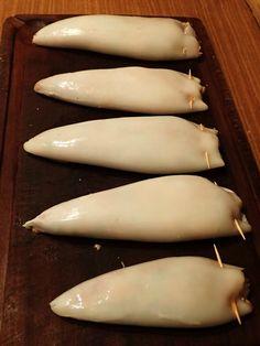 Encornets farcis au veau et chorizo