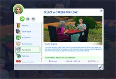 Mod The Sims - Tarot Reader Career