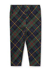 Ralph Lauren Childrenswear Plaid Stretch Jersey Legging