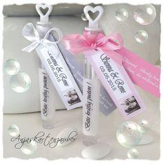 35 x Weddingbubbles Hochzeits Seifenblasen personalisiert Foto Anhänger eckig