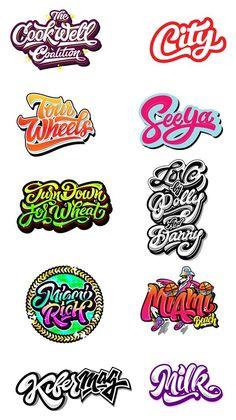Logos / Prints part 3 on Behance Types Of Lettering, Lettering Styles, Lettering Design, Inspiration Logo Design, Typography Inspiration, Calligraphy Letters, Typography Letters, Font Art, Logos Online