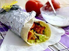 z cukrem pudrem: tortilla z kurczakiem i sosem czosnkowym Fresh Rolls, Tacos, Mexican, Ethnic Recipes, Food, Eten, Meals, Diet