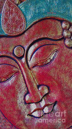 Fine Art Print~ Painted Buddha