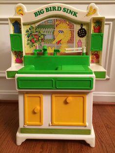 "1982 Vintage Hasbro ""Sesame Street"" BIG BIRD SINK Playset, ORIGINAL BOX! RARE!  | eBay"
