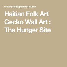 Haitian Folk Art Gecko Wall Art : The Hunger Site