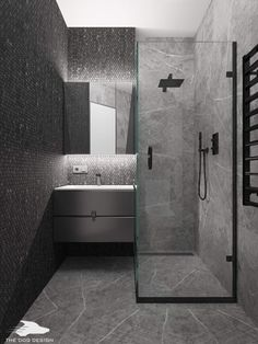Minimalist Design, Modern Design, Design Design, Grey Bathrooms, Big Houses, Washroom, Minimalism, Home Goods, Sweet Home
