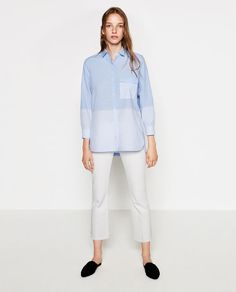 Image 1 of STRIPED POPLIN SHIRT from Zara