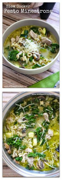 Slow Cooker Pesto Minestrone from 365 Days of Slow Cooking