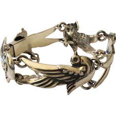 Taxco Dove Bracelet 552, 950 Sterling Silver