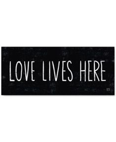 """'Love Lives Here' Canvas Print by Michael Mullan, 14"""" x 32"""""""