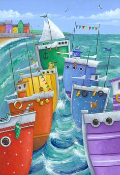 """Rainbow Flotilla"" Peter Adderley"