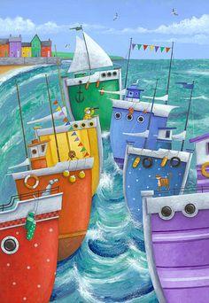 """Rainbow Flotilla"" Peter Adderley"
